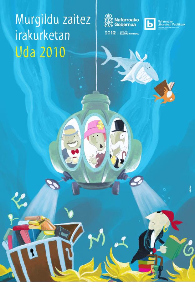 Sumérgete en la lectura 2010. Cartel.