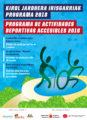 cartel actividades deportivas accesibles 2018