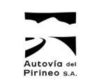 Logotipo Autovía del Pirineo (negro, texto reforzado))